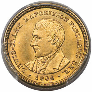 1904 G$1 LEWIS AND CLARK PCGS MS66