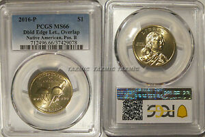 Click now to see the BUY IT NOW Price! 2016 P NATIVE SACAGAWEA DOLLAR $1 DOUBLED EDGE LETTERING OVERLAP PCGS MS66 POS B