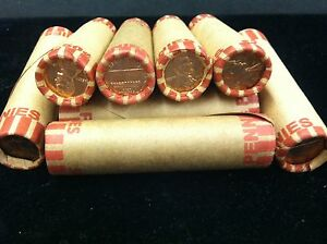 1959  UNCIRCULATED  LINCOLN CENT  ROLL  SEALED BANK  WRAPPED