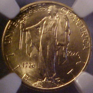 1926 NGC CERTIFIED MS64 SESQUICENTENNIAL $2 1/2 UNITED STATES GOLD AMERICAN COIN