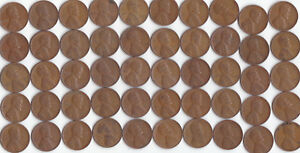 1945 S LINCOLN WHEAT CENT ROLL CIRCULATED