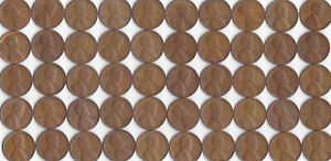 1951 S LINCOLN WHEAT CENT ROLL CIRCULATED