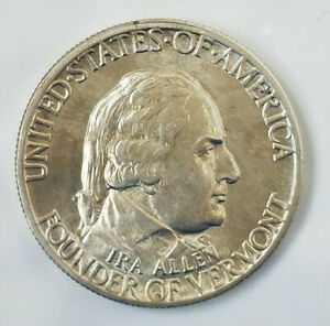 1927 VERMONT 90  SILVER COMMEMORATIVE HALF DOLLAR  41019 231