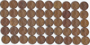 1951 P LINCOLN WHEAT CENT ROLL CIRCULATED