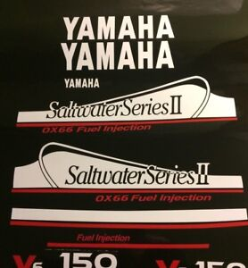 Yamaha 250 OX66 Saltwater Series II Dekaler kit  THIS SET white and red  free ship  - 572.16 KR