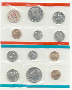1971 1C $1 US BU MINT SET 11 COINS IN MINT PACKAGE