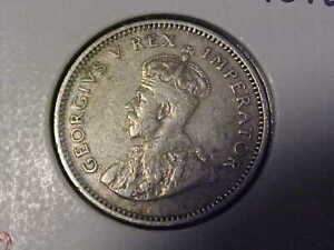 1933 SOUTH AFRICA SILVER 6 PENCE WITH PLEASING DETAIL
