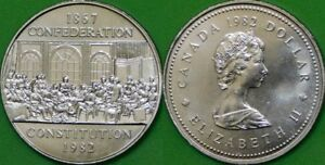 1982 CANADA CONSTITUTION DOLLAR GRADED AS BRILLIANT UNCIRCULATED