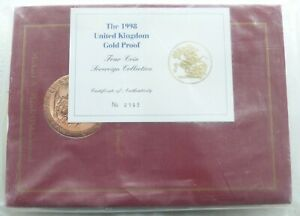 Click now to see the BUY IT NOW Price! 1998 GREAT BRITAIN SOVEREIGN GOLD PROOF 4 COIN SET BOX COA W/BOOK SEALED