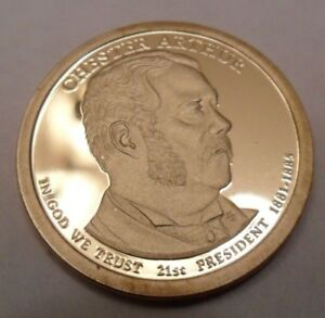 2012 S CHESTER A ARTHUR PRESIDENTIAL   PROOF  DOLLAR COIN