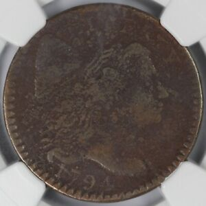 1794 HEAD OF 94 1C LIBERTY CAP S 58 LARGE CENT NGC VG DETAILS CORROSION
