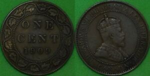 1909 CANADA LARGE PENNY GRADED AS FINE