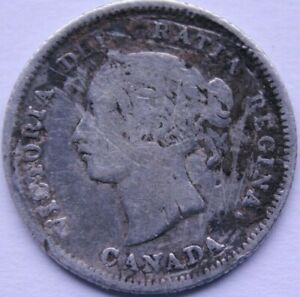 CANADA 5 CENTS 1880