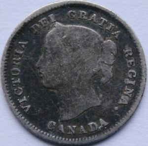 CANADA 5 CENTS 1896