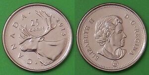 2013 CANADA REGULAR 25 CENTS FROM MINT ROLL
