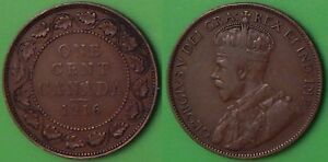 1916 CANADA LARGE PENNY GRADED AS FINE