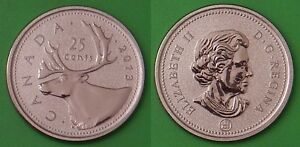2013 CANADA 25 CENTS FROM SPECIMEN SET ONLY 50000 MINTAGE