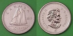 2013 CANADA SPECIMEN 10 CENTS ONLY 50000 MINTAGE