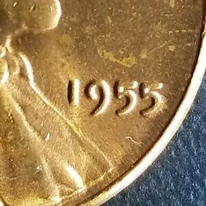 1955 P BLAZING BRIGHT FULL RED COPPER GEM  LINCOLN WHEAT CENT
