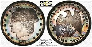Click now to see the BUY IT NOW Price! 1879 25 CENT J 1590 LUSTRE PCGS PROOF 65 CAMEO  PR65CAM    CAC PATTERNS SERIES