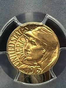 1915 S GOLD $1 DOLLAR PANAMA PACIFIC PCGS MS65