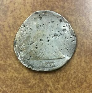 1875 SEATED LIBERTY QUARTER CULL REALLY SAD CONDITION