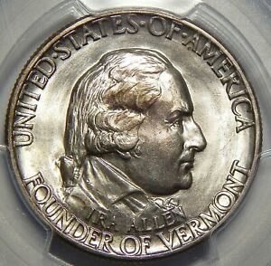 1927 PCGS MS65 VERMONT HALF DOLLAR SILVER COMMEMORATIVE