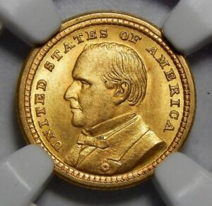 Click now to see the BUY IT NOW Price! 1903 NGC/CAC MS65 MCKINLEY LOUISIANA PURCHASE GOLD DOLLAR COMMEMORATIVE