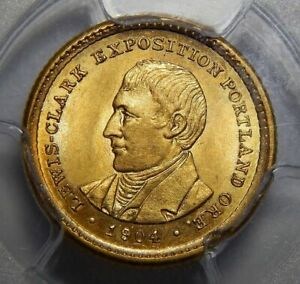 Click now to see the BUY IT NOW Price! 1904 PCGS MS64 LEWIS & CLARK GOLD DOLLAR COMMEMORATIVE