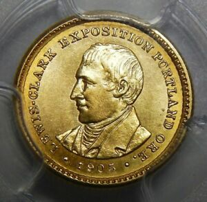 Click now to see the BUY IT NOW Price! 1905 PCGS MS64 LEWIS & CLARK GOLD DOLLAR COMMEMORATIVE