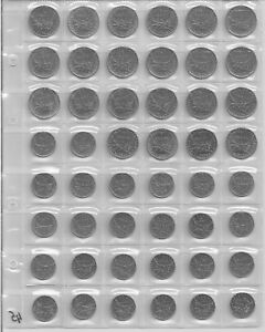 COLLECTION OF FRENCH COINS WITHOUT REPEATS BY YEAR 48 PIECES HALFPENNY SALE