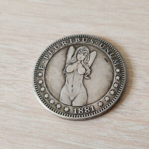 1881 WANDERER MORGAN SILVER FOREIGN CURRENCY COIN COMMEMORATIVE COLLECTION NAKED