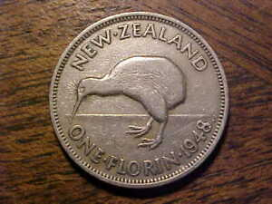 1948 NEW ZEALAND ONE FLORIN