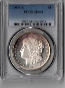Click now to see the BUY IT NOW Price! 1878 S MORGAN DOLLAR PCGS GRADED MS64