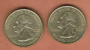 TWO 25 CENTS STATES OF USA 1999 D 2005 D