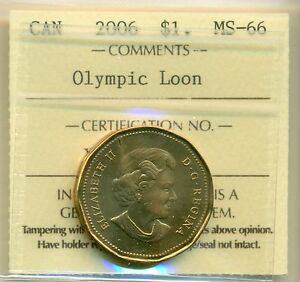 Click now to see the BUY IT NOW Price! 2006 CANADA LOON DOLLAR ICCS MS 66 OLYMPIC LOON