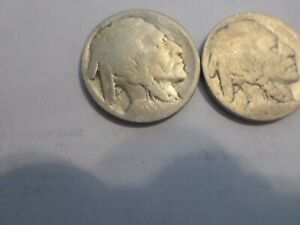 LOT OF 8 1910'S BUFFALO HEAD NICKELS HARD TO FIND COIN LOT