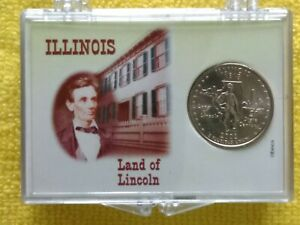 2003  P. ILLINOIS STATE QUARTER. BU.   FREE GIFT. WITH A PROACTIVE DISPLAY CASE