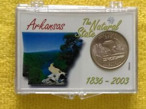 2003   P ARKANSAS STATE QUARTER. BU.   FREE GIFT. WITH A PROACTIVE DISPLAY CASE