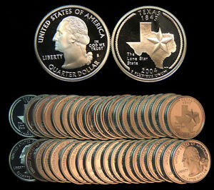 Click now to see the BUY IT NOW Price! ROLL OF 40 2004 S PROOF TEXAS 90  SILVER QUARTERS