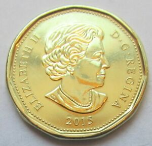 2015 CANADA  LOONIE  COMBINED SHIPPING