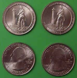 2013 US PERRY'S VICTORY MEMORIAL QUARTER SET ONE P&ONE D FROM MINT ROLLS