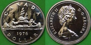 1976 CANADA DETACHED JEWEL DOLLAR GRADED AS PROOF LIKE FROM ORIGINAL SET