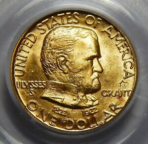 Click now to see the BUY IT NOW Price! 1922 PCGS MS67 GRANT MEMORIAL W/STAR GOLD DOLLAR COMMEMORATIVE