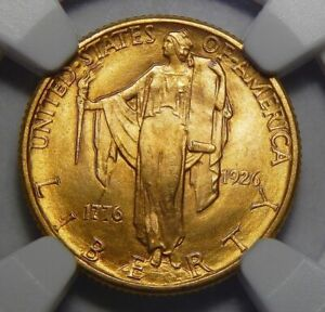 Click now to see the BUY IT NOW Price! 1926 NGC MS65 SESQUICENTENNIAL $2.50 GOLD COMMEMORATIVE