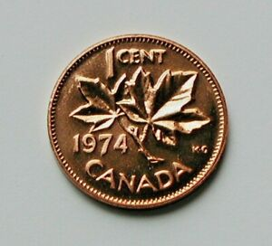 1974 Elizabeth II Small Cent Mintage, Photos, Specifications
