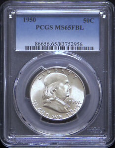 Click now to see the BUY IT NOW Price! 1950P FRANKLIN HALF DOLLAR PCGS65FBL   SCARFACE VARIETY