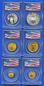 Click now to see the BUY IT NOW Price! 2001 PLATINUM GOLD SILVER EAGLE 1 OF 190 WORLD TRADE CENTER PCGS GEM UNC SET