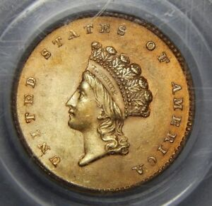 Click now to see the BUY IT NOW Price! 1854 PCGS MS64 TYPE 2 GOLD DOLLAR