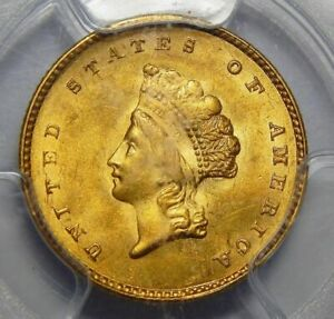 Click now to see the BUY IT NOW Price! 1855 PCGS MS64 TYPE 2 GOLD DOLLAR